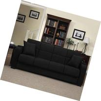 Tyler Microfiber Storage Arm Convert-a-couch Sofa Sleepr Bed