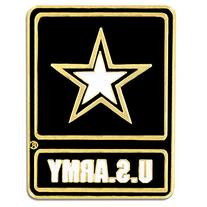 "PinMart's U.S. Army Logo Military Star 1"" Lapel Pin"