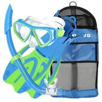 U.S. Divers Junior Dorado Mask, Proflex Fins and Sea Breeze