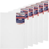 "6 Pack of U.S. Art Supply 30"" x 40"" Acrylic Primed Cotton"