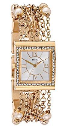 GUESS Women's U0140L2 Pearl Embellished Gold-Tone Bracelet
