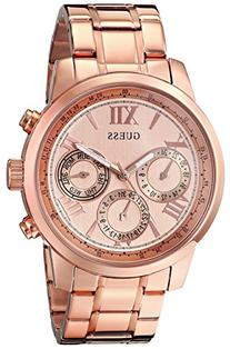 GUESS Women's U0330L2 Sporty Rose Gold-Tone Stainless Steel