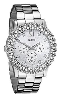 GUESS Women's U0335L1 Silver-Tone Multi-Function Watch with