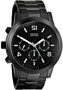 GUESS Men's U15061G1 Sporty Black Stainless Steel Watch with