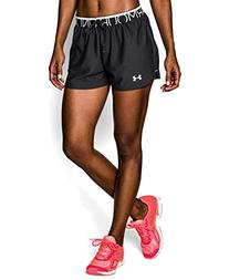 Under Armour Women's Play Up Shorts, Black/Black, Small
