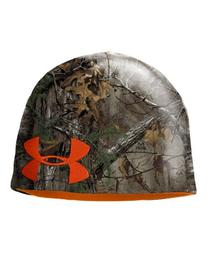 Under Armour Men's UA Reversible Camo Beanie Combo Large & Extra Large Mossy Oak Bottom Land