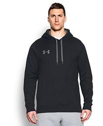 Under Armour Men's Rival Fleece Hoodie, Black/Graphite, XX-