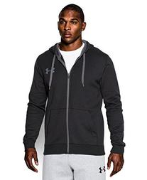 Under Armour Men's Rival Fitted Full Zip, Black/Black, XXX-Large