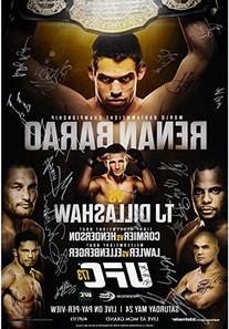 "UFC 173 Barao vs. Dillashaw Autographed 27"" x 39"" 24-"