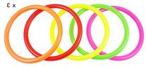 Ujoy Pack of 15 Multicolor Plastic Toss Rings For Speed And
