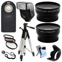 Ultimate Accessory Package for Nikon D3000, D3100, D3200,