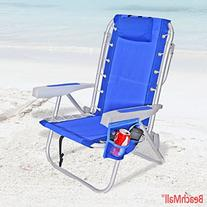 Rio Ultimate Backpack Beach Chair w/ cooler - Blue