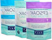 Ultimate Epsoak Epsom Salt Bundle - 3 pack of Sleep Formula