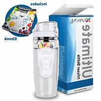Ezisoul Large 32oz Fruit Infuser Water Bottle - BPA-Free
