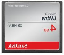 SanDisk Ultra 4GB Compact Flash Memory Card Speed Up To 25MB