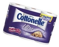 Cottonelle Ultra Double Roll, ,2 Ply, White-6pk