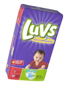 Luvs Ultra Leakguards Newborn Diapers Size 1, 48 Count