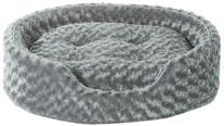 Ultra Plush Oval Dog Bed - Gray - Large