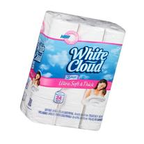 White Cloud Ultra Soft & Thick Double Roll 3 Ply Bathroom