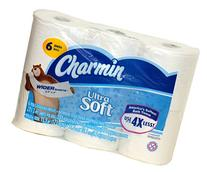 Charmin Ultra Soft Wide Bathroom Tissue - 6 Jumbo Rolls 221 Sheets