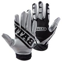 Battle Ultra-Stick Receiver Gloves, Youth Small - Silver/