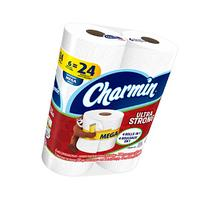 Charmin Ultra Strong Toilet Paper Mega Rolls, 6 ea