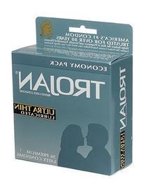 Trojan Ultra Thin Latex Condoms, Primium Lubricant, 36-Count