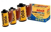 3 PACK Kodak Ultramax 400 Color Print Film 36 EXP. 35MM DX
