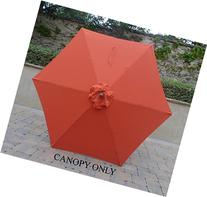 9ft Umbrella Replacement Canopy 6 Ribs in Orange