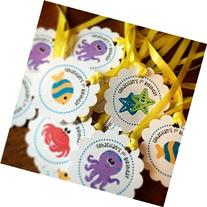 Set of 10 Under the Sea favor tag w/ ribbon