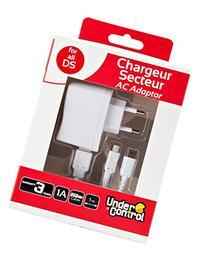 UnderControl - Adaptateur secteur DS/3DS Blanc 6 en 1 -