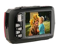 Ivation 20MP Underwater Waterproof Shockproof Digital Camera & Video Camera w/Dual Full-Color LCD Displays – Fully Submersible Up to 10 Feet