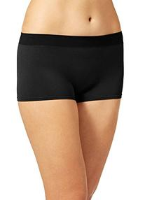 Jockey Women's Underwear Modern Micro Boyshort, black, 6