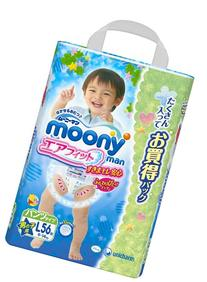 unicharm | Diapers | moony for boy , underware-style , L-