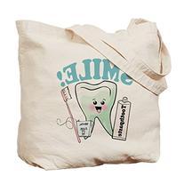 CafePress Unique Design Dentist Dental Hygienist Teeth Tote