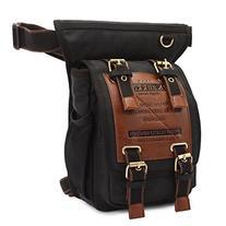 KAUKKO One Shoulder Sling Bag Hiking Waist Bag Vintage