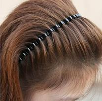 Unisex Black Spring Wave Metal Hoop Hair Band Girl Men`s