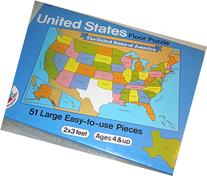 United States Educational Floor Puzzle - 51 Pieces