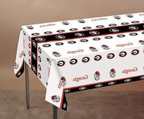 Univ of Georgia 54 x 108 Plastic Tablecover 12 Ct