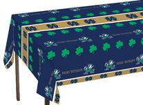 Univ of Notre Dame 54 x 108 Plastic Tablecover 12 Ct