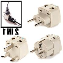 OREI European Plug Adapter Set Works in Albania, Austria,