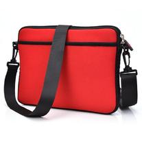 RED Tablet Sleeve with Removable Strap Neoprene Case for