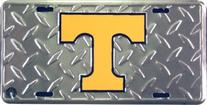 University of Tennessee Diamond Cut NCAA Tin License Plate