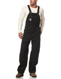 Carhartt Men's Duck Bib Overall Unlined R01,Black,34 x 34
