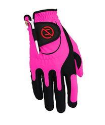 Zero Friction Junior Golf Gloves, Left Hand, One Size, Pink
