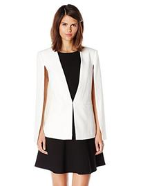 BCBGMAXAZRIA Women's Upas Cape Jacket, Off White, X-Small