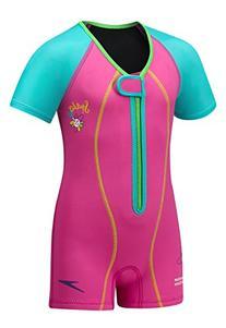 Speedo Kids' UPF 50+ Begin to Swim Thermal Swimsuit, Pink, 7