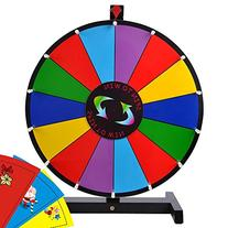 """24"""" Tabletop Spinning Prize Wheel 14 Slots with Color Dry"""
