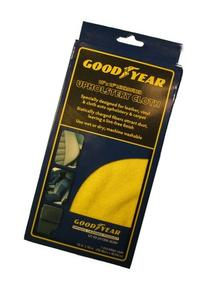 Goodyear Upholstery Cloth 12x16 Microfiber Yellow Boxed #