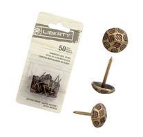 """Liberty Upholstery Nails/tacks 7/16""""- 50 Pcs - Hammered"""